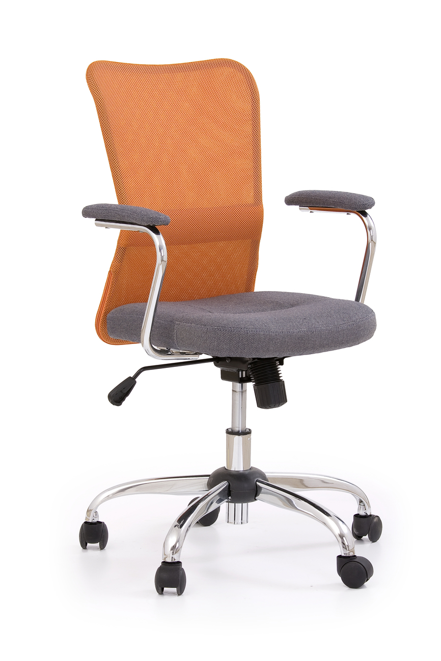 ANDY chair color: grey/orange