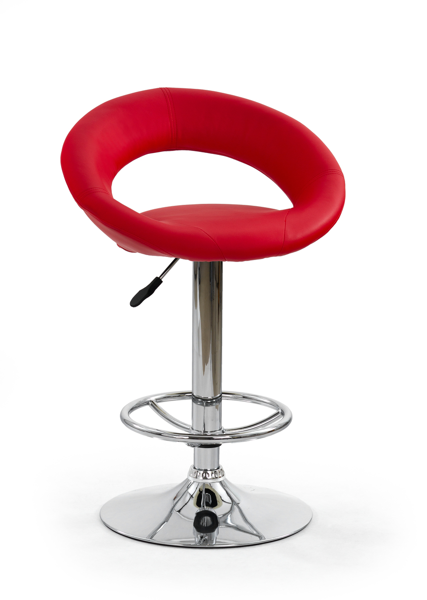 H15 bar stool color: red