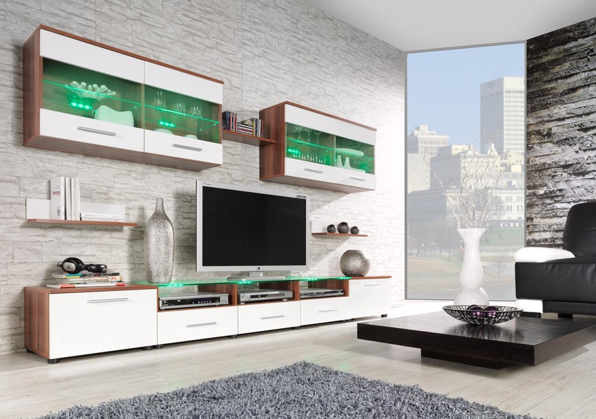 wall unit CAMA I plum/white