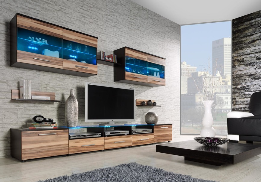 wall unit CAMA I wenge/ baltimore nut