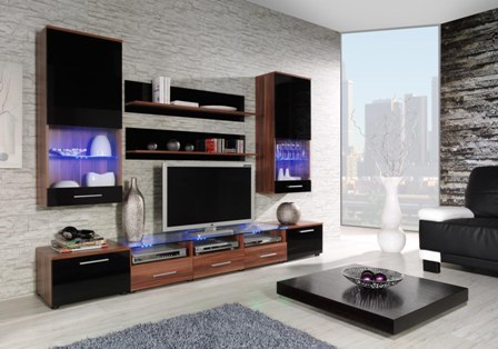 wall unit CAMA II plum/black