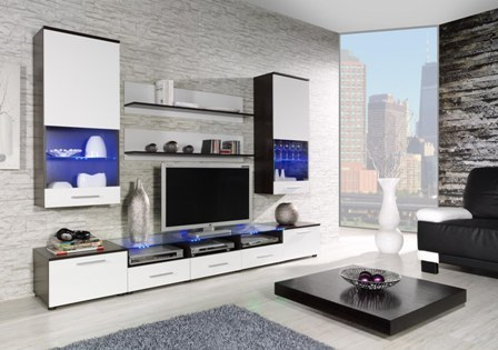 wall unit CAMA II wenge/white