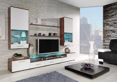 wall unit CAMA II plum/white