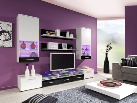 wall unit CAMA II white/czarny