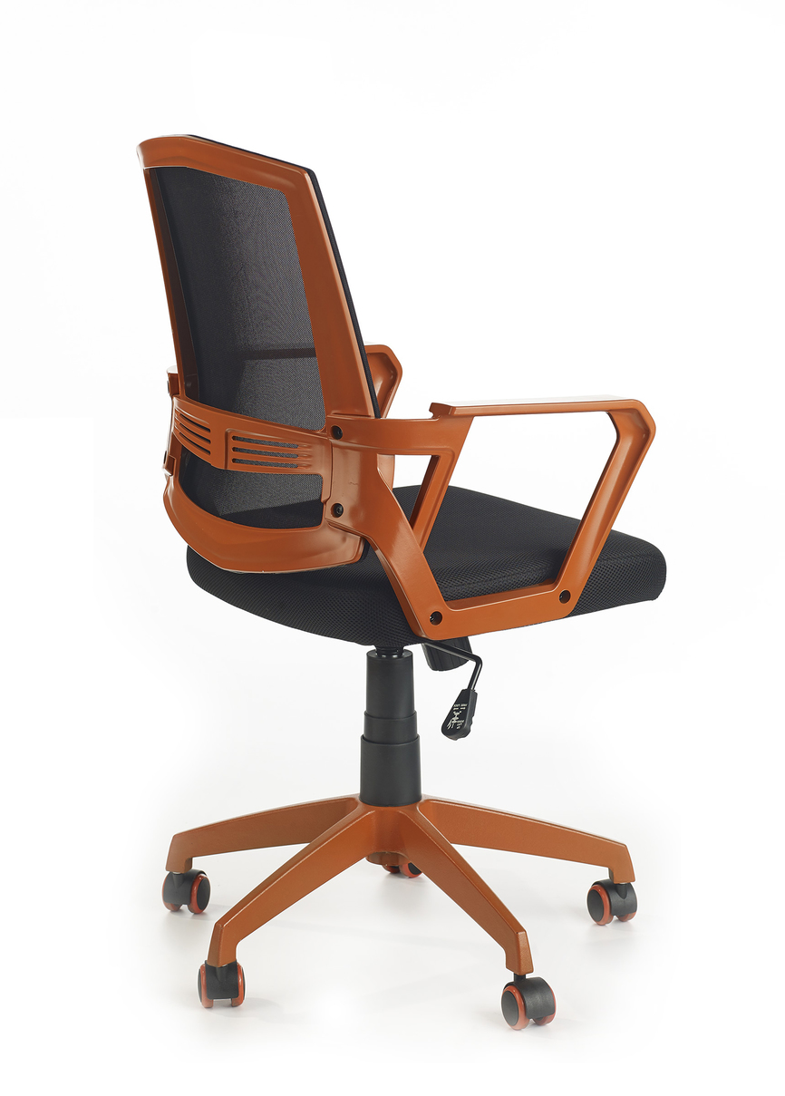 ASCOT offcie chair, color: black / orange