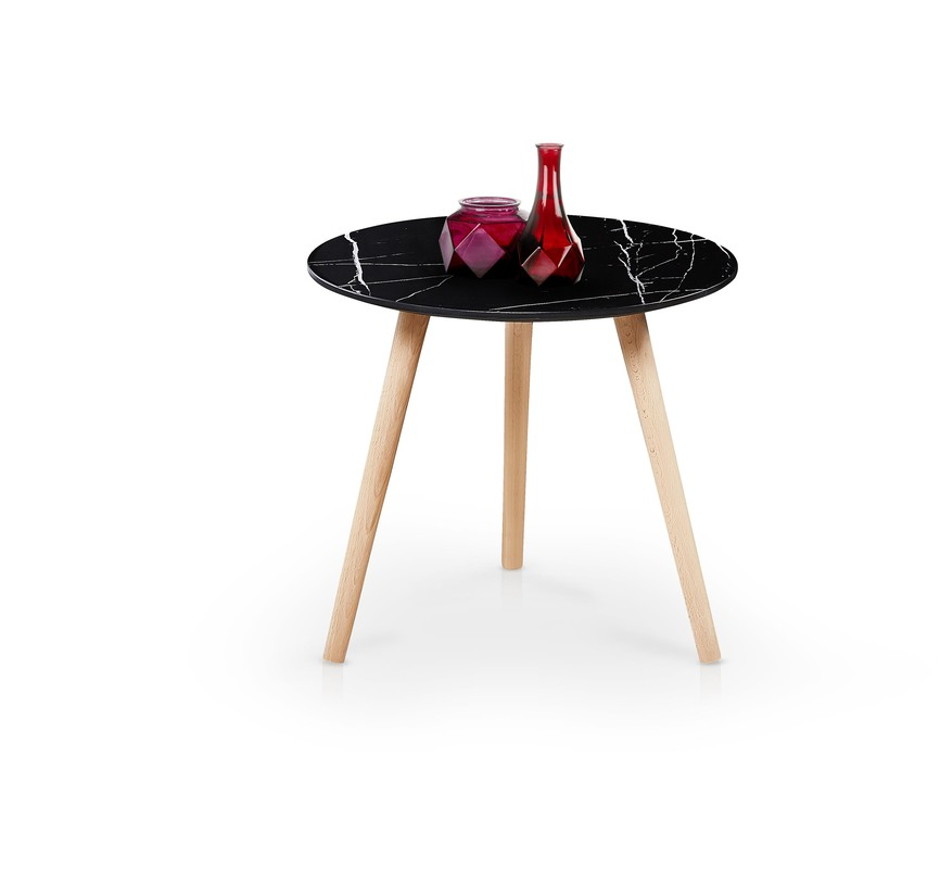 AIDA c. table, color: black marble