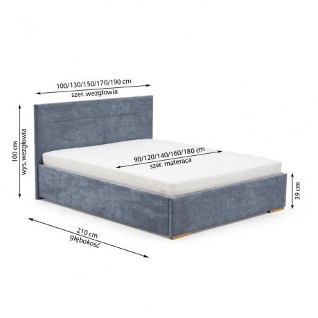 Bed 210 160.Beds Vigo 140 160 180 4 Mebeles Furniture Store